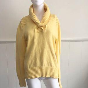 Yellow Aspen Chaps Elegant Sweater • L